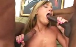 flower tucci: squirting interracial anal delight