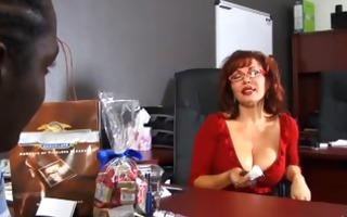 cute pecker sucking redhead takes spunk fountain