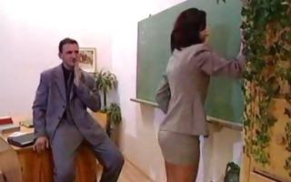 hot female-dominator drilled at school