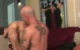beautiful hooker fucking with tattooed fellow
