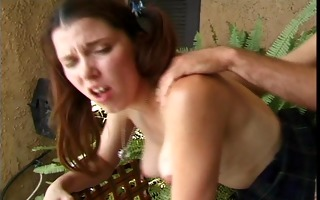 horney coed enjoys being home from college (clip)