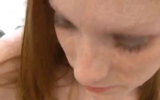 ginger whore gives a great tugjob