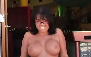 breasty dark brown hoe jerks off hard palpitating