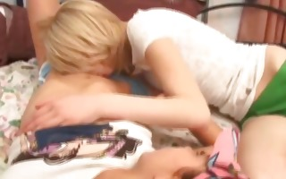 two naked legal age teenagers fingering pussies