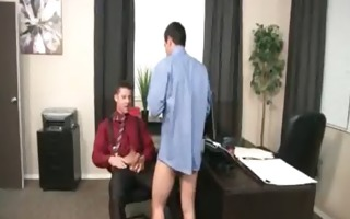 muscled homosexual guys fuck in yhe office