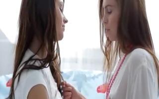 extra sleek duet lesbian babes licking twats