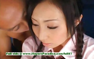 stunning japanese model gets teats licked and