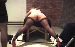 corpulent booty spank