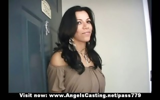 astounding hawt latina does oral-sex and rides