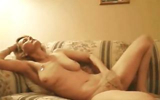 blond aged masturbating