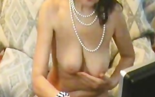 slutty aged sweetheart stripping and teasing