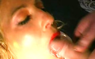 vivian enjoys a sexy mouthful of piss cum drink