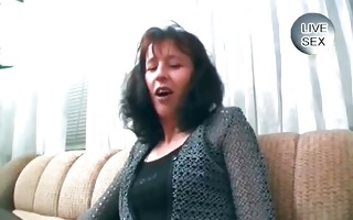 excited brunette milf massage her cookie part6