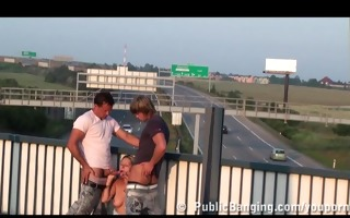 daria public three-some on freeway overpass part 2