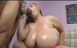 large tit fat bitch takes black 12 inch cock in