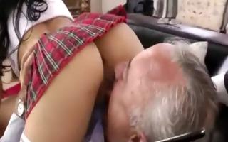schoolgirl rides mature cock - 6 min