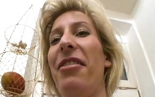 milfy german blond shaves and plays - sascha