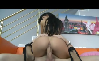hot latin chick enjoys carnal fucking with her