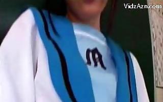 juvenile schoolgirl in uniform getting her snatch