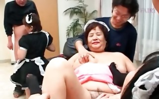 lusty oriental mature maiden joining a hardcore