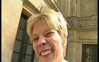 german blonde undresses st time for webcam