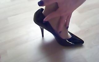 cum on hose and high-heels 1